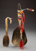 American Indian Art:Pipes, Tools, and Weapons, Two Plains Buffalo Horn Spoons... (Total: 2 )