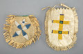 American Indian Art:Beadwork and Quillwork, Two Sioux Beaded Hide Pouches... (Total: 2 )