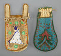 American Indian Art:Beadwork and Quillwork, Two Southern Plains Beaded Hide Pouches... (Total: 2 )