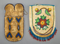 American Indian Art:Beadwork and Quillwork, Two Northern Plains / Great Lakes Beaded Hide Pouches... (Total: 2 )