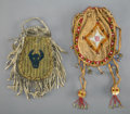 American Indian Art:Beadwork and Quillwork, Two Plains Beaded Hide Pouches... (Total: 2 )