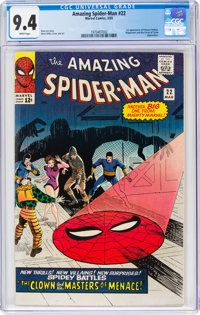 The Amazing Spider-Man #22 (Marvel, 1965) CGC NM 9.4 White pages