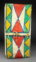 American Indian Art:Pipes, Tools, and Weapons, A Crow Parfleche Envelope...