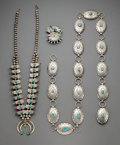 American Indian Art:Jewelry and Silverwork, Three Southwest Jewelry Items... (Total: 4 )