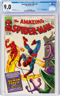 Silver Age (1956-1969):Superhero, The Amazing Spider-Man #21 (Marvel, 1965) CGC VF/NM 9.0 White pages....