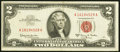 Error Notes:Gutter Folds, Gutter Fold Error Fr. 1514 $2 1963A Legal Tender Note. Very Fine.. ...