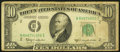 Error Notes:Gutter Folds, Gutter Fold Error Fr. 2014-B $10 1950D Federal Reserve Note. Fine.. ...