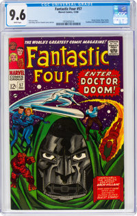 Fantastic Four #57 (Marvel, 1966) CGC NM+ 9.6 White pages