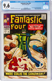Fantastic Four #61 (Marvel, 1967) CGC NM+ 9.6 White pages