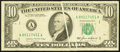 Error Notes:Gutter Folds, Gutter Fold Error Fr. 2027-A $10 1985 Federal Reserve Note. Very Fine.. ...