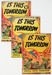 Is This Tomorrow #1 Group of 4 (Catechetical Guild, 1947) Condition: Average VG.... (Total: 4 Comic Books)