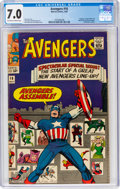 Silver Age (1956-1969):Superhero, The Avengers #16 (Marvel, 1965) CGC FN/VF 7.0 Off-white to white pages....
