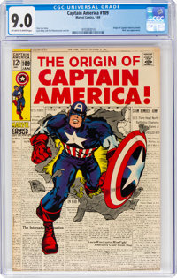 Captain America #109 (Marvel, 1969) CGC VF/NM 9.0 Off-white to white pages