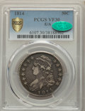 Bust Half Dollars, 1814 50C E Over A in STATES VF30 PCGS. CAC. PCGS Population: (22/91 and 0/2+). NGC Census: (0/0 and 0/0+). CDN: $575 Whsle....