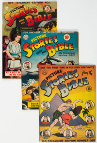 Picture Stories from the Bible Group of 6 (DC, 1942-47) Condition: Average FN-.... (Total: 6 Comic Books)