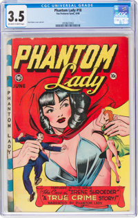 Phantom Lady #18 (Fox Features Syndicate, 1948) CGC VG- 3.5 Off-white to white pages