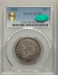 1828 25C XF40 PCGS. CAC. PCGS Population: (28/106 and 0/3+). NGC Census: (8/91 and 0/0+). XF40. Mintage 102,000. ...(PCG...