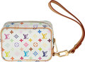 "Luxury Accessories:Bags, Louis Vuitton White Multicolor Monogram Monogram Wapity Pouch. Condition: 1. 4.5"" Width x 3"" Height x 2"" Depth . ..."