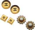 Luxury Accessories:Accessories, Chanel Set of Three: Gold Clip-On Earrings. Condition: 3. See Extended Condition Report for Sizes.... ... (Total: 3 )