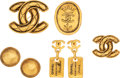Luxury Accessories:Accessories, Chanel Set of 5: Gold Brooches & Earrings. Condition: 3. See Extended Condition Report for Sizes.... ... (Total: 5 )