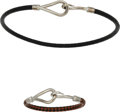 Luxury Accessories:Accessories, Hermès Set of Two: Jumbo Hook Braided Leather Bracelets. Condition: 2. See Extended Condition Report for Sizes.... ... (Total: 2 )