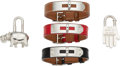 Luxury Accessories:Accessories, Hermès Set of Five: Kelly Bracelets and Charms . Condition: 2. See Extended Condition Report for Sizes.... ... (Total: 5 )