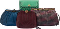 Luxury Accessories:Bags, Judith Leiber Set of Four: Snakeskin and Lizard Evening Bags. Condition: 4. See Extended Condition Report for Sizes...... (Total: 4 Items)
