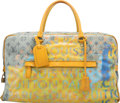 """Luxury Accessories:Bags, Louis Vuitton by Richard Prince Limited Edition Defile Denim Pulp Jaune Weekender GM Bag. Condition: 2. 18.5"""" Width x ..."""