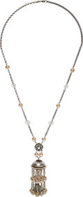 """Luxury Accessories:Accessories, Chanel Glass Pearl and Crystal Necklace. Condition: 3. 29"""" Length. ..."""