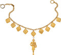 """Luxury Accessories:Accessories, Chanel Gold Madame Coco Chanel Necklace. Condition: 2. 15"""" Length. ..."""
