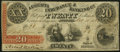 Obsoletes By State:Georgia, Augusta, GA- Augusta Insurance & Banking Co. $20 Oct. 10, 1853 Very Fine.. ...