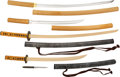 Edged Weapons:Swords, A Beautiful Daisho with Both Blades in Full Polish, Best Quaility Samegawa Sayas.. ... (Total: 4 Items)