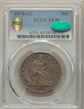 1875-CC 50C XF40 PCGS. CAC. PCGS Population: (36/194 and 0/2+). NGC Census: (8/113 and 0/4+). CDN: $475 Whsle. Bid for p...