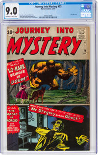 Journey Into Mystery #75 (Marvel, 1961) CGC VF/NM 9.0 Off-white to white pages