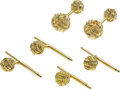 Estate Jewelry:Cufflinks, Gold Dress Set, Schlumberger for Tiffany & Co. . ... (Total: 5 Items)