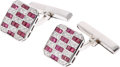 Estate Jewelry:Cufflinks, Ruby, Diamond, Platinum, White Gold Cuff Links. ...