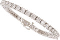 Estate Jewelry:Bracelets, Diamond, White Gold Bracelet . ...