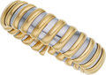 Estate Jewelry:Bracelets, Gold, Stainless Steel Bracelet, Bvlgari. ...