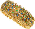 Estate Jewelry:Bracelets, Gold, Enamel Bracelet. ...