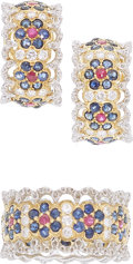Estate Jewelry:Suites, Sapphire, Diamond, Ruby, Gold Jewelry Suite, Buccellati. ... (Total: 2 Items)