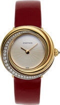 Estate Jewelry:Watches, Cartier Lady's Gold Trinity Watch. ...