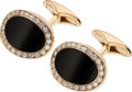 Estate Jewelry:Cufflinks, Diamond, Black Onyx, Gold Cuff Links, Picchiotti. ...