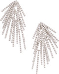 Estate Jewelry:Earrings, Diamond, White Gold Earrings, Stefan Hafner. ...
