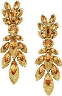 Citrine, Gold Earrings, Van Cleef & Arpels, French