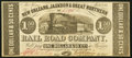 Obsoletes By State:Louisiana, New Orleans, LA- New Orleans, Jackson & Great Northern Rail Road Company $1.50 Nov. 16, 1861 Crisp Uncirculated.. ...