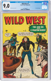 Wild West #1 (Marvel, 1948) CGC VF/NM 9.0 White pages