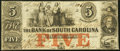 Obsoletes By State:South Carolina, Charleston, SC- Bank of South Carolina $5 Apr. 13, 1861 Fine-Very Fine.. ...