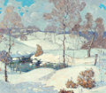 Fine Art - Painting, American, Carl Lawless (American, 1894-1934). Snappy Weather. Oil on canvas. 25 x 29 inches (63.5 x 73.7 cm). Signed lower right: ...