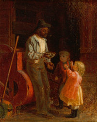 Thomas Waterman Wood (American, 1823-1903) The Kitten, 1873 Oil on canvas 10 x 8 inches (25.4 x 2