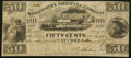 Obsoletes By State:Mississippi, Natchez, MS- Mississippi Shipping Company IIII Bits / 50¢ Dec. 2, 1839 Very Fine.. ...